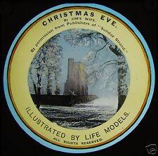 Glass Magic Lantern Slide CHRISTMAS EVE NO1 C1910 EDWARDIAN STORY