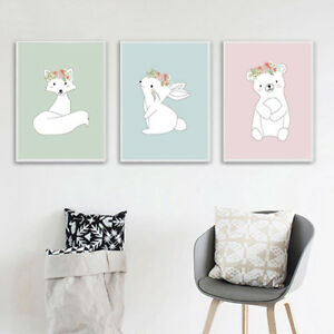 Fox Rabbit Nursery Art Print