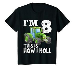 Image Is Loading Kids Farm Tractor 8th Birthday Party Shirt 8
