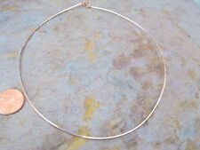 """Rose Gold Over Silver Neck Wire Square Snake Collar Necklace 16"""" NEW Neck Wire"""