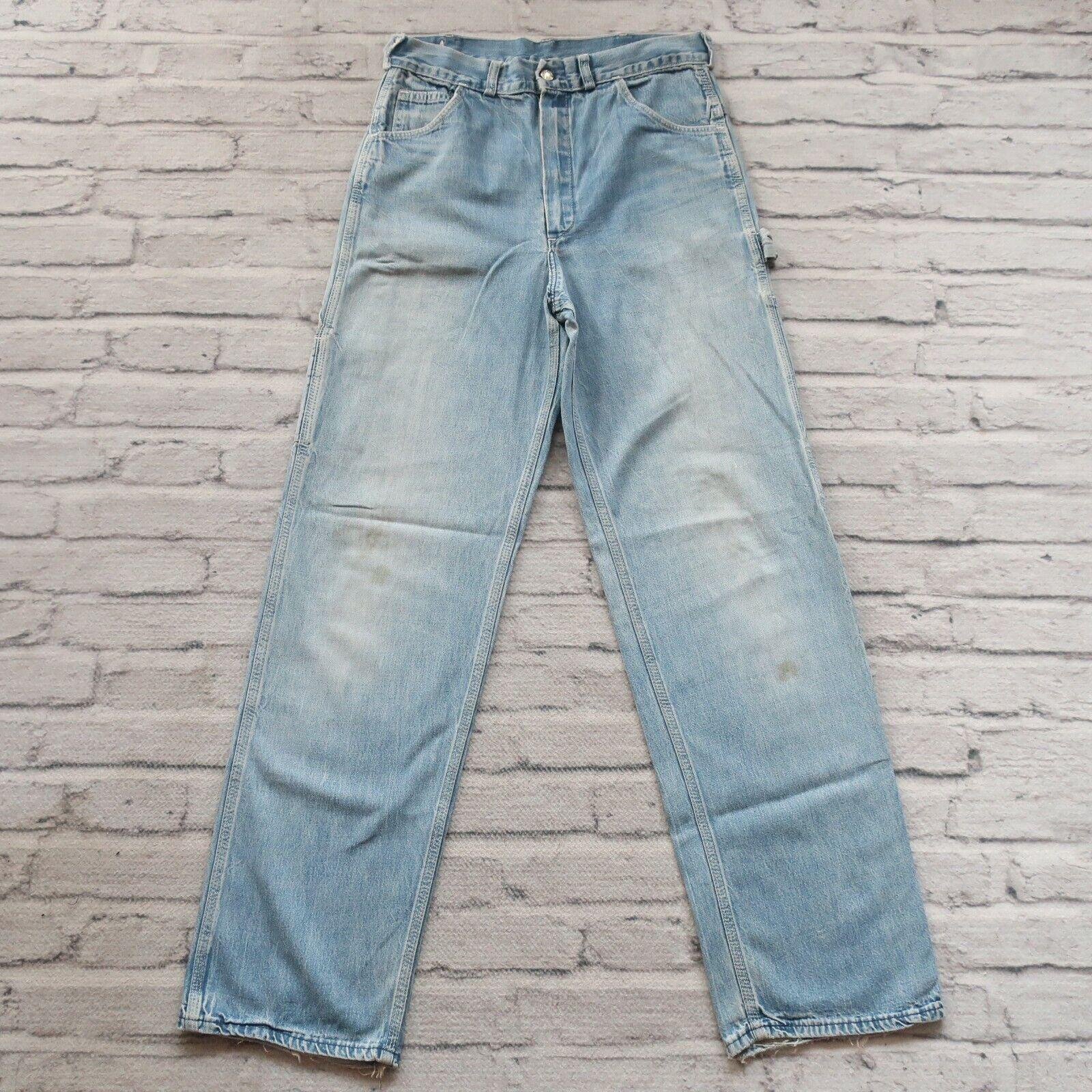 Vintage 60s Madewell Work Denim Jeans Size 30 Chore Carpenter