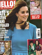 KATE MIDDLETON UK Hello Magazine 12/21/15 1410 KYLIE MINOGUE TWIGGY DAISY RIDLEY