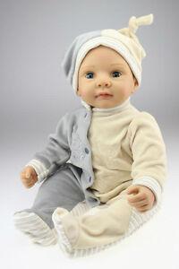 22 Reborn Baby Doll Eyes Move Lifelike Silicone Newborn Boy Doll Ebay