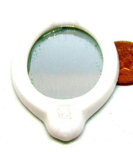 SCALA 1:12th BIANCO IN CERAMICA SPECCHIO doll House Miniatura accessorio WC BAGNO