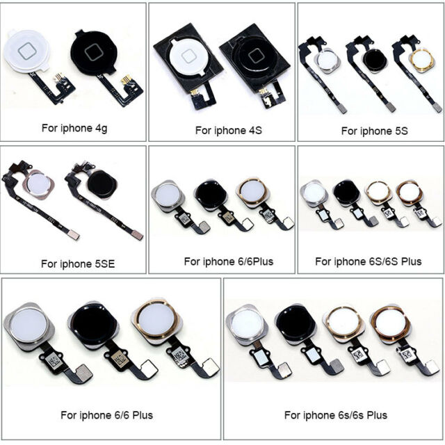 Home Button Flex Cable Touch ID Sensor Replacement for iPhone 5S 4S 6 6S 7 Plus