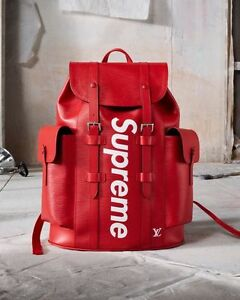 ff4f66d196e1 Image is loading LOUIS-VUITTON-x-SUPREME-CHRISTOPHER-EPI-LEATHER-BACKPACK-