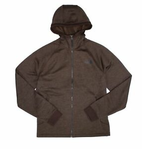 The-North-Face-Mens-Sweater-Brown-US-Large-L-Relaxed-Full-Zip-Hooded-129-435