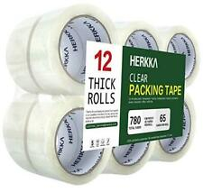 Clear Packing Tape 12 Rolls Heavy Duty Packaging Tape 12 Pack 188 Inch Wide