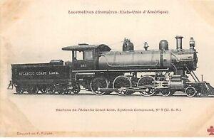 USA-N-50929-Atlantic-Coast-Line-267-Railway-Tren-Locomotora
