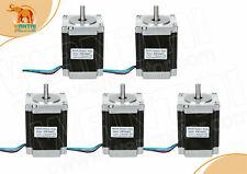5pcs Stepper Motor Nema23 57bygh627 270oz In 3a 4wires Single Shaft Euampus Stock