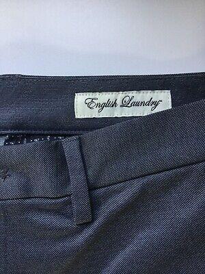 Pantaloni Uomo Blu Scuro 32w 32l By English Laundry Nuovo- Alta Qualità E Basso Sovraccarico
