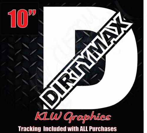 Dirtymax duramax D vinyl decal sticker turbo diesel 4x4 truck 2500 stacks 3500