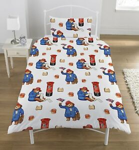 NEW PADDINGTON BEAR MOVIE SINGLE DUVET QUILT COVER SET BOYS GIRLS ... : paddington bear quilt - Adamdwight.com