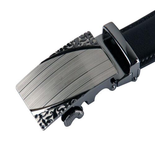 2019 Luxury Leather Men/'s Automatic Buckle Fashion NO Waist Strap Belt Waistband