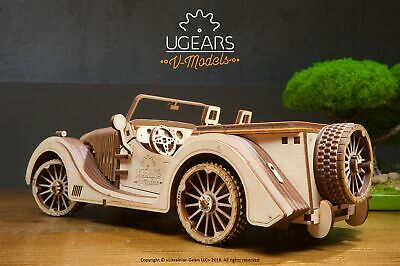 S T E A M  Line Toys UGears Mechanical Models 3-D Wooden Puzzle - Roadster  VM-01 4820184120815 | eBay