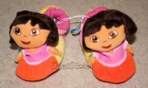 Dora-the-Explorer-Doll-Head-Numbers-Girls-Plush-Toddler-Slippers-House-Shoes-M