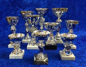 10-Silver-Cup-Bowl-Trophy-Awards-Equestrian-Dance-Martial-Arts-FREE-engraving