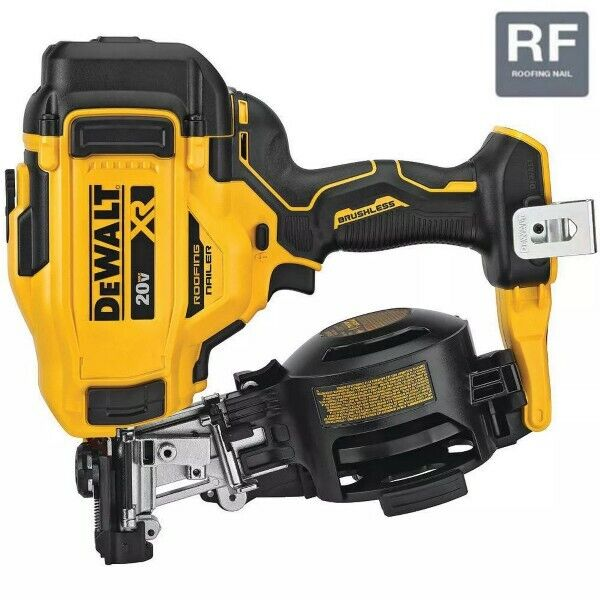 Dewalt 20V MAX 15° CORDLESS COIL ROOFING NAILER. Buy it now for 450.94