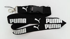 NEW PUMA Logo Black Lanyard Detachable key chain holder MP3 ID Neck Strap clip