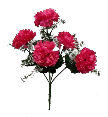 60 Carnations ~ Many Colors ~ Centerpieces Bridal Silk Wedding Flowers Bouquets