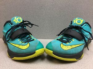 "a273b722f6f7 Nike KD 7 VII ""Uprising"" Hyper Jade Volt Photo Blue 653996-370 Men s ..."
