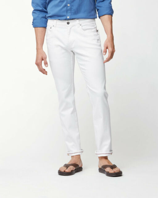 7d385ad5 Tommy Bahama Caicos Vintage Slim Fit Jeans Mens 38 x 32 White Stretch NWT  $128