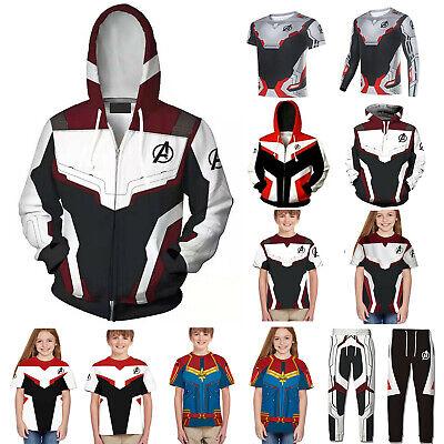 3D Avengers Endgame Hoodies Men tshirt Sweatshirts Jacket cosplay shirt men kids