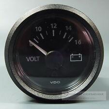 VDO VOLTMETER INSTRUMENT GAUGE + LED 12V 52mm  new Generation classic schwarz