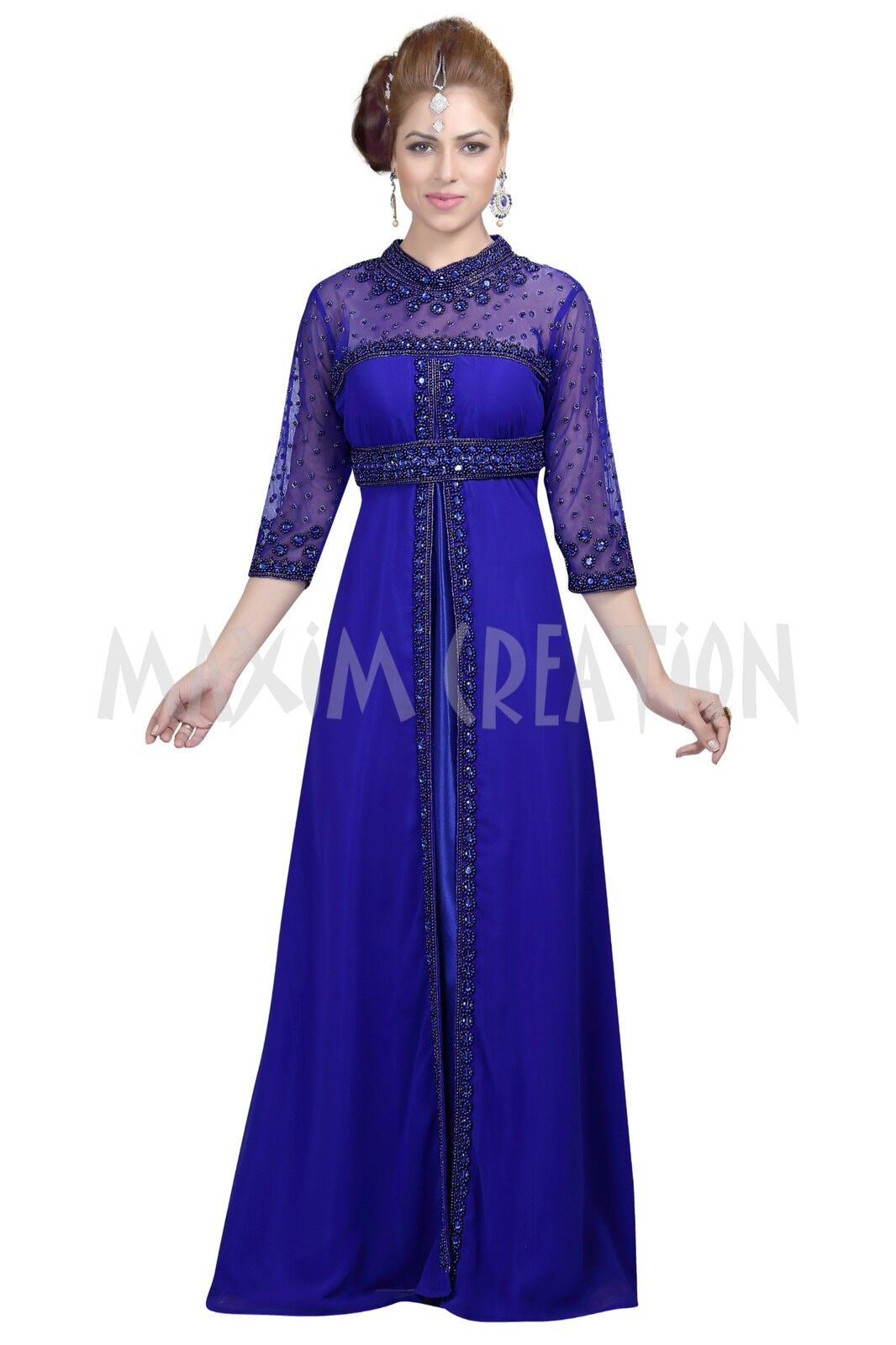 EXCLUSIVE MODERN DJELLABA PARTY WEAR ARABIC MAGHRIB KAFTAN DRESS FOR WOMEN 6098