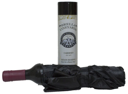 Novelty Travel Umbrella Looks Like a Bottle Of Cabernet