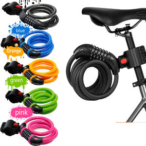 New Combination Bike cable Lock Strong Heavy Duty Bicycle Lock 1.2 meter