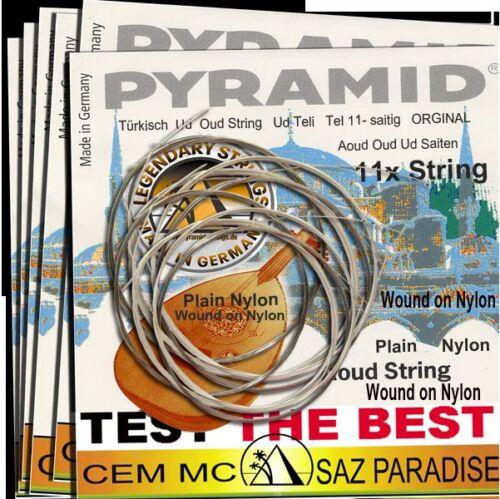 1Pack PYRAMID Profi AOUD OUD Strings UD teli 11Saiten Wound on Nylon-Plain Nylon