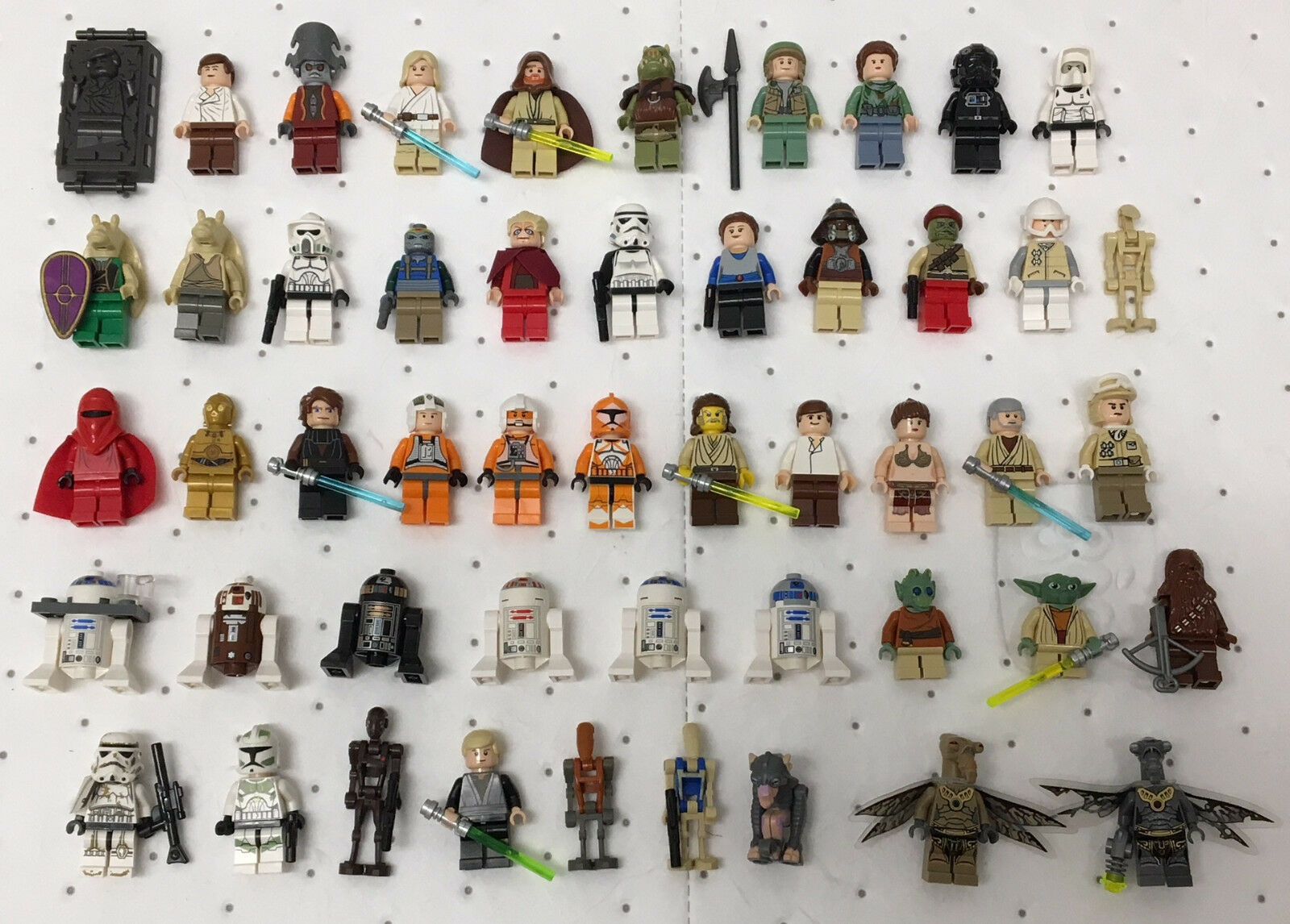 Star Wars original LEGO lot of 50 different OFFICIAL LEGO Mini-Figures