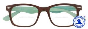 GATSBY-Moderne-Bifokalbrille-mit-Lese-Nahteil-und-Federscharnier-in-Braun