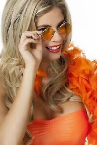 Sonnenbrille-034-John-034-orange-Glaeser-Karnevalbrille-Faschingsbrille