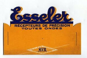 Esseler Radio, Carton De PublicitÉ Magasin AnnÉes 30-40, Original, Rare Uyem3exg-07230052-879320135