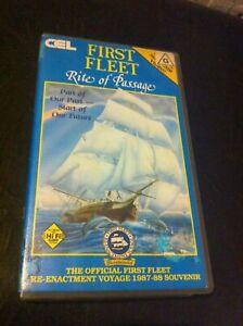 First-Fleet-Rite-of-Passage-VHS-Re-enactment-voyage-1988-Souvenir-HTF-on-DVD-CEL