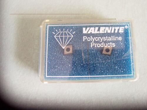 VOV-045032  Grade VC728  Polycrystalline Diamond Inserts Valenite New 2 Pcs