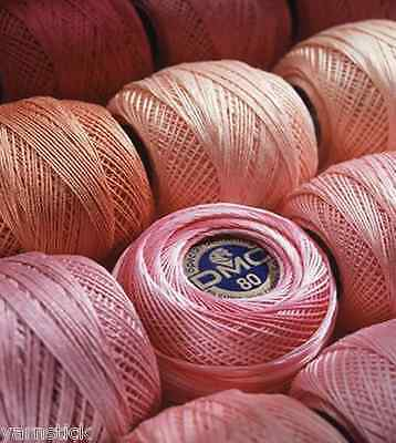 DMC Special Dentelles Crochet No.80 Colour Pink Number 353