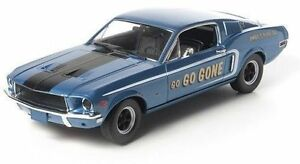 1-18-Greenlight-JIMBO-039-S-Puro-Aceite-Go-Go-Gone-Homenaje-Azul-1968-Mustang-Gt