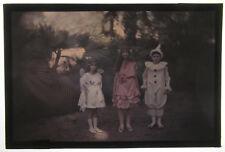 Autochrome Enfants Original d'époque Vers 1910