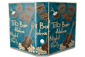 Archivador A4 Carpeta 2 anillas 60mm impreso Fiesta Tiki Bar Aloha