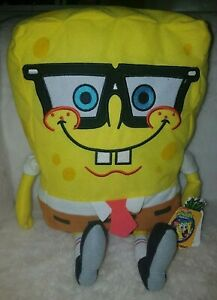 Spongebob-And-Friends-Nickelodeon-Spongebob-With-Glasses-Geek-Plush-With-Tags