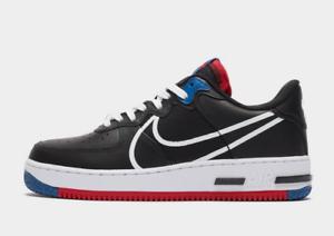 Nike-Air-Force-1-MRKR-Sneaker-Uomo-Nero-Bianco-Rosso-Blu-Scarpe-Misura-6-14-Regno-Unito-NUOVO