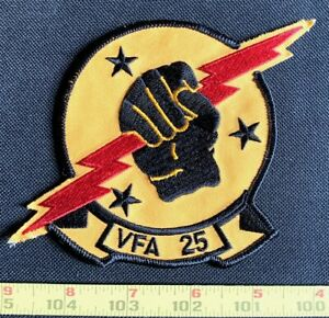 US Military VFA-25 FIST OF THE FLEET CHEST Embroidered Iron On Patch