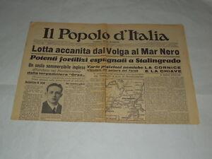 GIORNALI-DI-GUERRA-RARI-IL-POPOLO-D-039-ITALIA-LOTTA-ACCANITA-DAL-VOLGA-AL-MAR-NERO