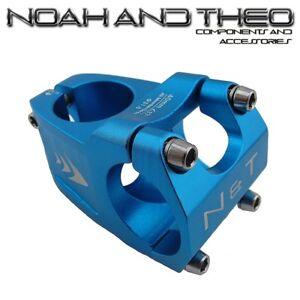 Bicycle-40mm-Short-Stem-28-6mm-or-1-1-8-034-to-31-8mm-Wave-Road-Handlebar-MTB-BLUE