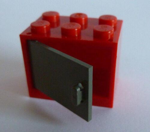 1 x LEGO ® 4533/4532 armoire, encadré avec Porte/Trappe altdunkelgrau, rouge 2x3x2