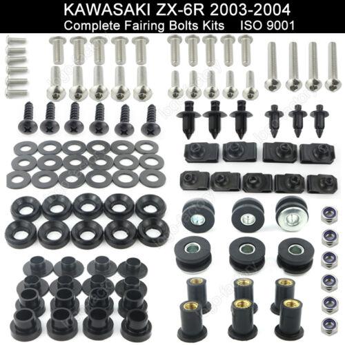 For Kawasaki ZX 6R ZX 6RR 2003-2004 Stainless Steel Fairing Bolt Body Screws