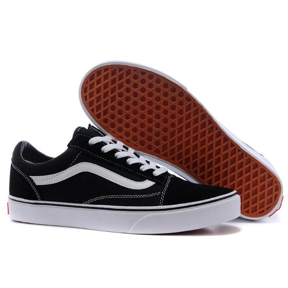 d45b91064b Femmes Vans Old Skool Skate Noir Original Chaussures Shoes Classic canvas  suede